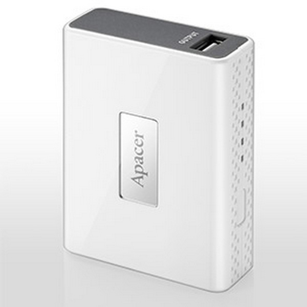 APACER MOBILE POWER BANK B110, 4400 MAH, WHITE, R/P