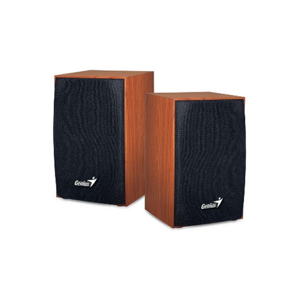 GENIUS SPEAKERS 1WAY, 2.0, 04W, WOOD, USB
