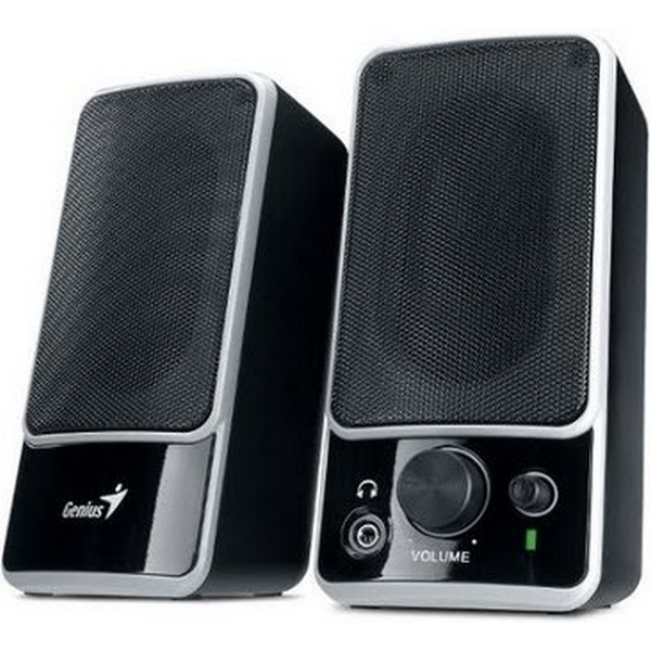 GENIUS SPEAKERS 1WAY, 2.0, 02W, BLACK, HP-OUT, VOL
