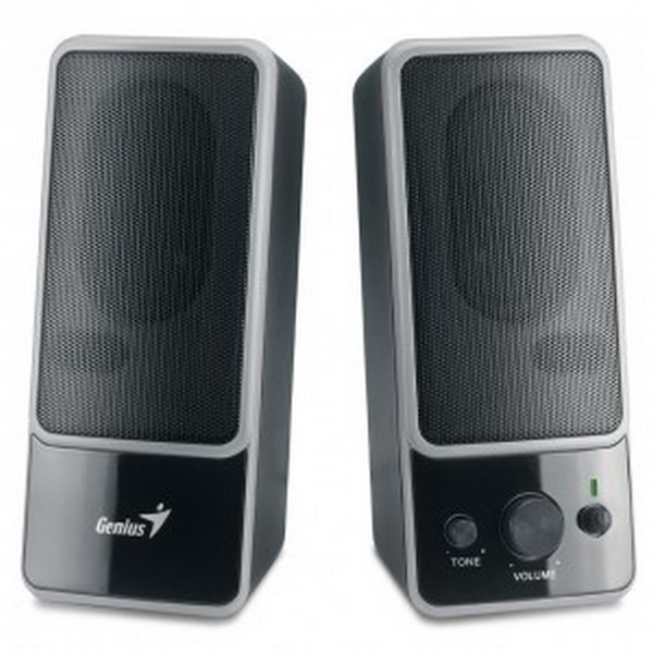 GENIUS SPEAKERS 1WAY, 2.0, 0,6W, BLACK, HP-OUT, VOL/TREBLE