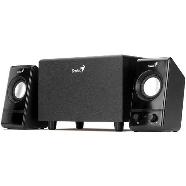 GENIUS SPEAKERS 2WAY, 2.1, 6W, BLACK, SUB