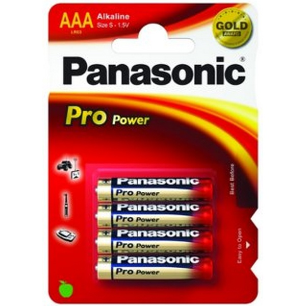 BATTERY PRO POWER GOLD ALKALINE AAA 1,5V 4PACK