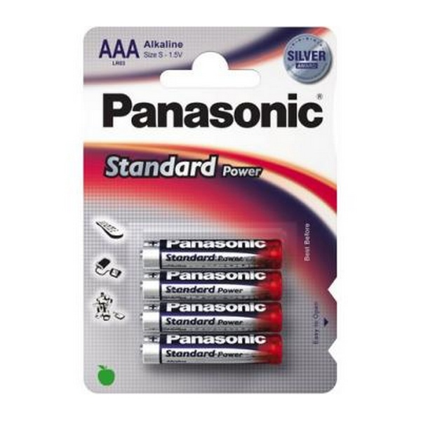 BATTERY STANDARD POWER SILVER ALKALINE AAA 1,5V 4PACK