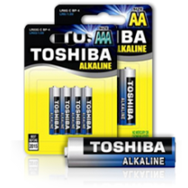 BATTERY BLUE ALKALINE AAA 1,5V 4PACK