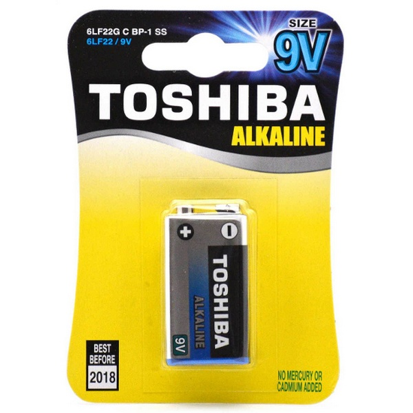 BATTERY STANDARD ALKALINE 9V 1PACK X 10